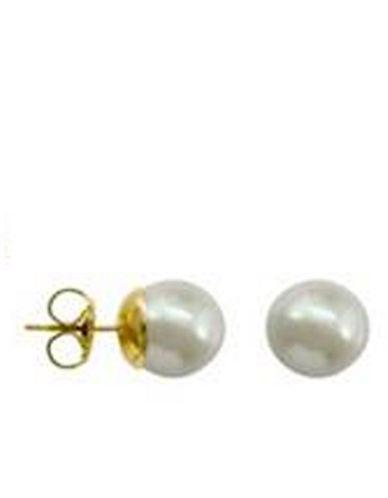 MAJORICA10mm White Stud Manmade Organic Pearl Earrings