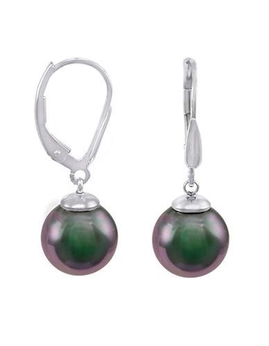 MAJORICAOrganic Manmade Grey Pearl Drop Earrings