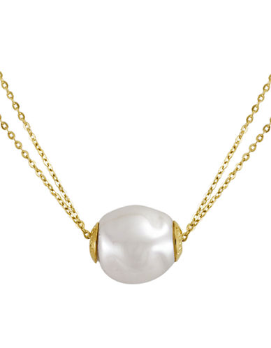 MAJORICA 18Kt Gold Vermeil and Pearl Double Strand Necklace