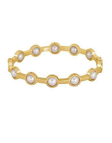 MAJORICA18Kt Gold and Pearl Bangle Bracelet