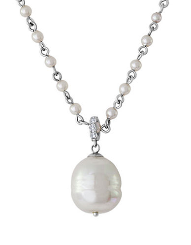 MAJORICA Sterling Silver and Baroque Pearl Necklace