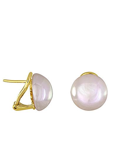 MAJORICAGoldtone and Pearl Stud Earrings