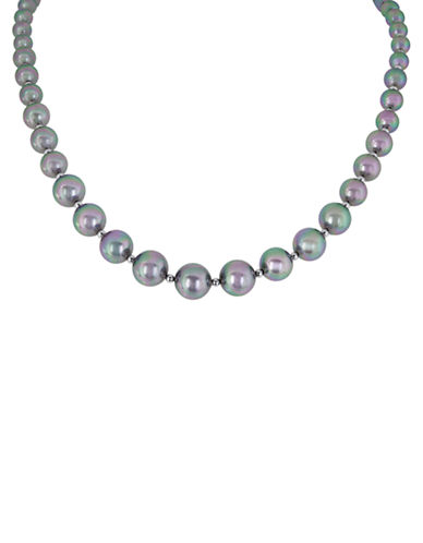 MAJORICA Graduated Gray Pearl Necklace