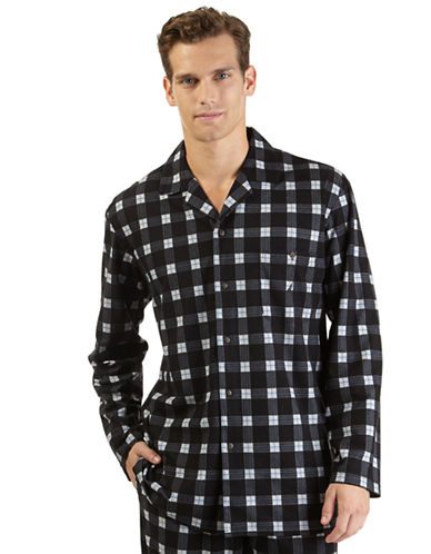 NAUTICA Plaid Fleece Sleep Shirt