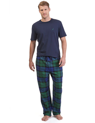 NAUTICAT Shirt and Tartan Plaid Flannel Pant Pajama Set