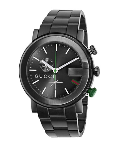 GUCCI Mens Black Chronograph Sports Watch
