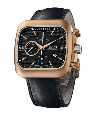 GUCCIMens Bronze and Stainless Steel Chronograph Coupe Watch
