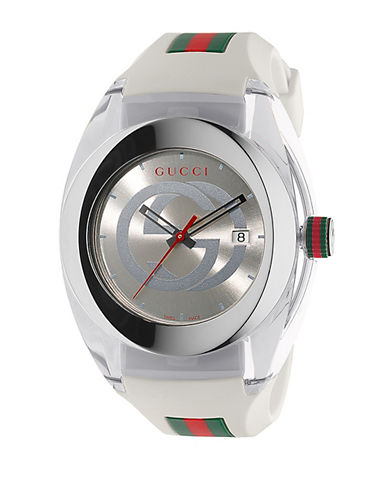 gucci male sync stainless steel watch