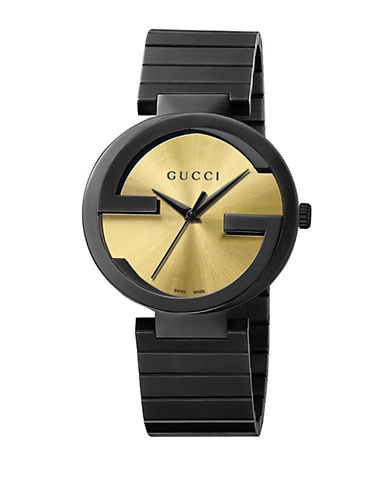 GUCCI Mens Interlocking Gs PVD Watch