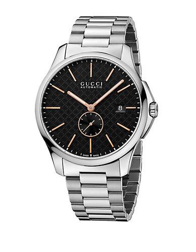 gucci male stainless steel bracelet watch