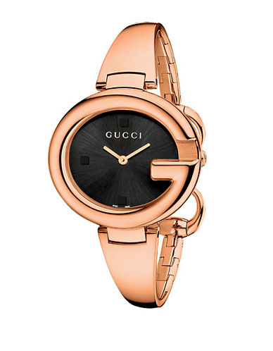 GUCCI Ladies Guccissima Pink Gold-Tone Watch 36mm