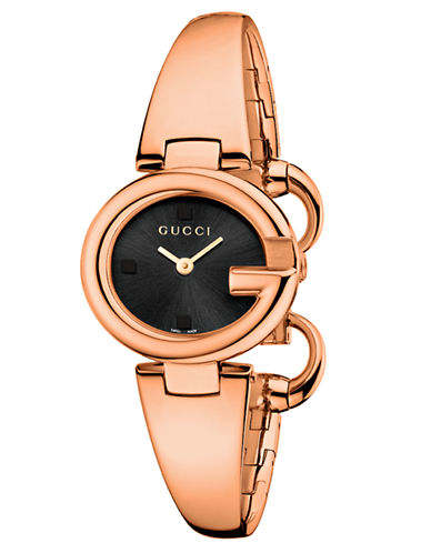 gucci female ladies guccissima pink goldtone watch 27mm
