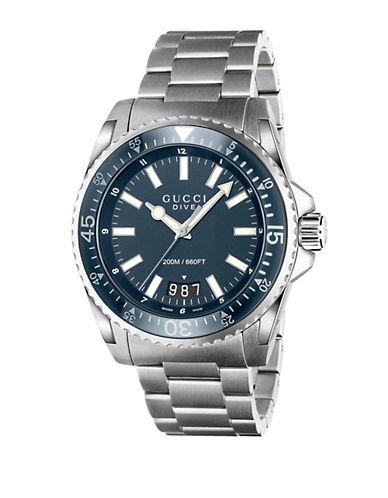 gucci male dive blue steel watch