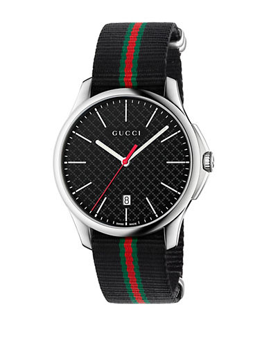 gucci male gtimeless stainless steel watch