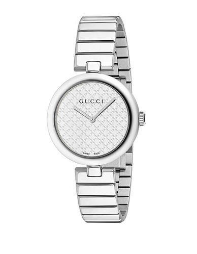 gucci female diamantissima stainless steel bracelet watch