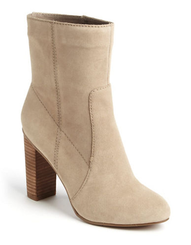 NINE WEST Otilla Suede Stacked Boots