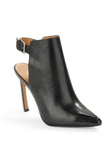 NINE WESTSplash Leather Slingback Booties