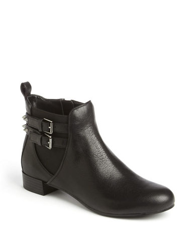ENZO ANGIOLINI Maysa Spiked Leather Ankle Boots