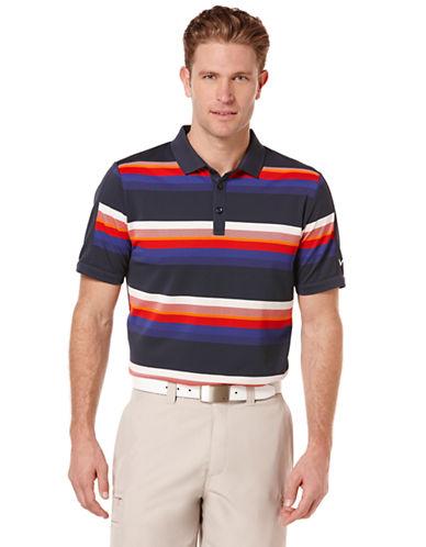 CALLAWAYRoadmap Stripe Pique Polo