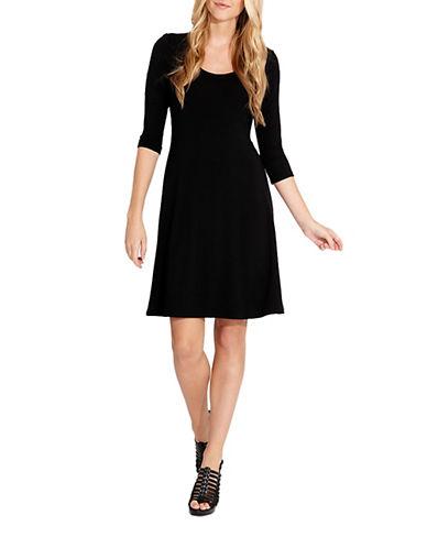 Shop Karen Kane online and buy Karen Kane Classic Three Quarter Sleeve A Line Dress dress online