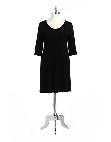Karen Kane Plus Plus Scoopneck A-Line Jersey Dress