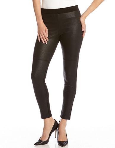 KAREN KANEFaux Leather Paneled Leggings