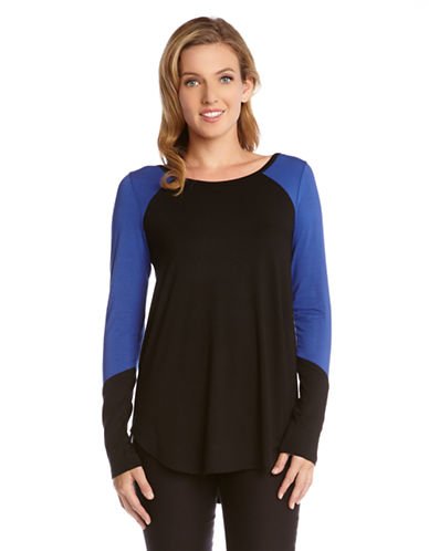 KAREN KANE Colorblocked Long Sleeve Tee