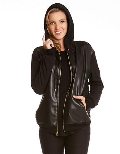 KAREN KANEFaux Leather Front Jacket