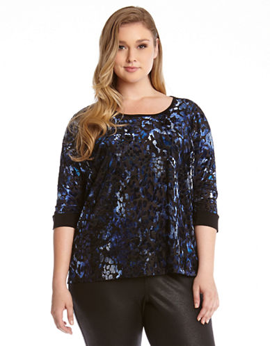 Karen Kane Plus Plus Burnout Top