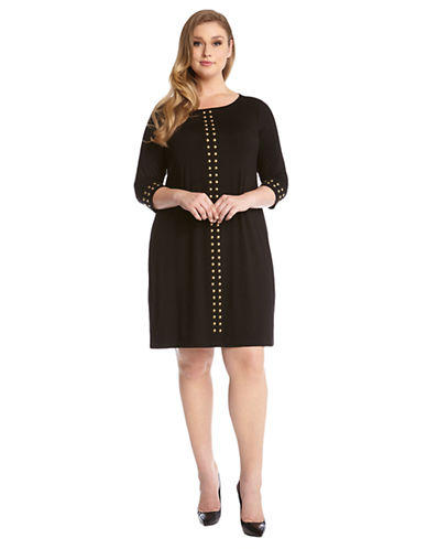 KAREN KANE PLUSPlus Studded Shift Dress