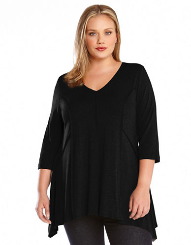 Karen Kane Plus Plus Three Quarter Sleeve Outside Seam Tunic