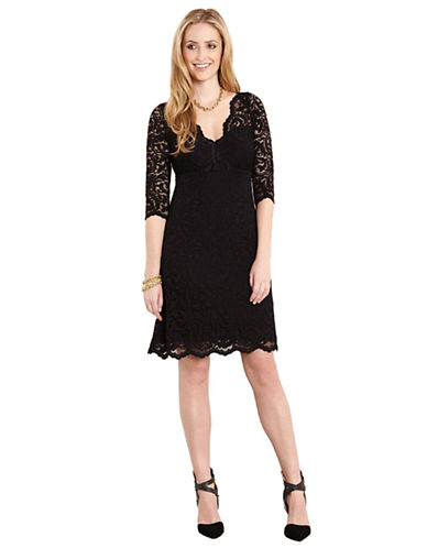 KAREN KANE Lace Cocktail Dress with Scalloped Hem