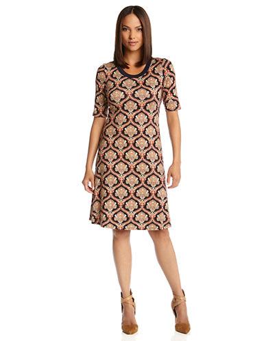 KAREN KANEFiligree Print T Shirt Dress