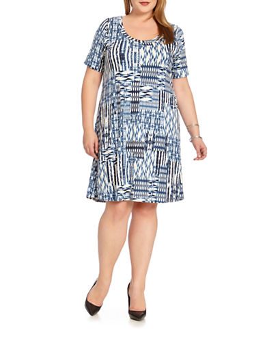 Plus Patch Print T-Shirt Dress