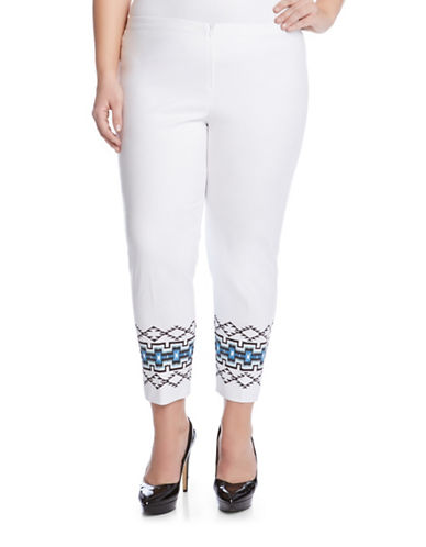 Plus Tribal-Print Pants plus size,  plus size fashion plus size appare