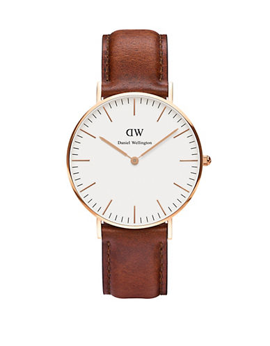daniel wellington female st andrews leather strap watch