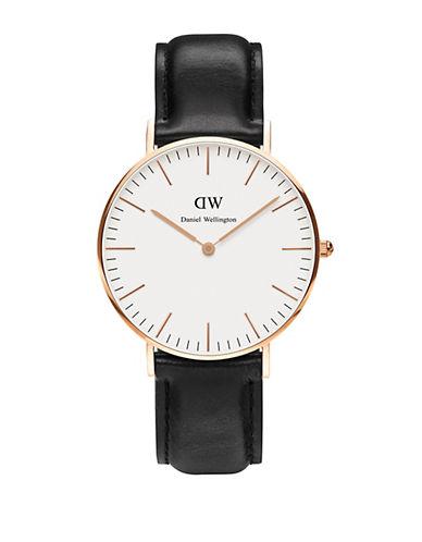 daniel wellington female sheffield leather strap watch