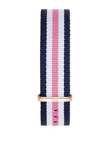 daniel wellington female southampton striped nylon nato watch strap