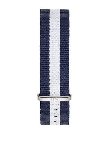 daniel wellington female glasglow striped nylon nato watch strap