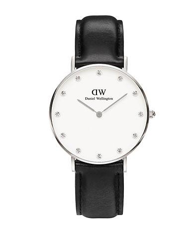 daniel wellington female classy sheffield crystal dial watch