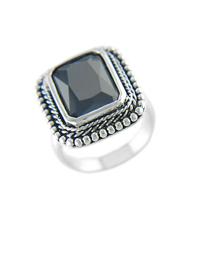 LORD & TAYLOR Black Cubic Zirconia Ring
