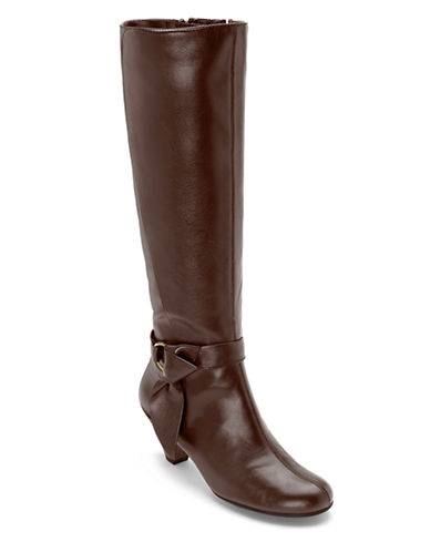 AEROSOLES Infamous Synthetic Leather Knee-High Boots