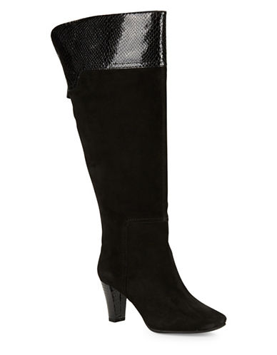 Buy Viet Wide-Calf Suede Knee-High Boots by Bandolino online