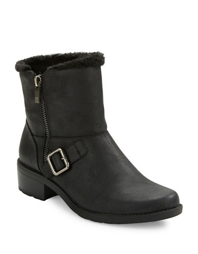 ANNE KLEINLyvia Faux Fur-Trimmed Ankle Boots