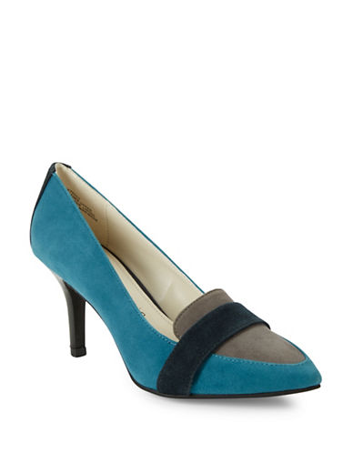 Youly Colorblocked Suede Pumps By Anne Klein Shoes Online