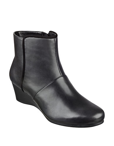 EASY SPIRITLorcie Leather Wedge Ankle Boots