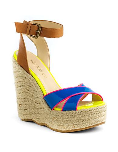 ENZO ANGIOLININomas Platform Jute Wedge Sandals