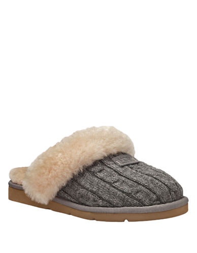 UGG AUSTRALIA Ladies Cozy Cable-Knit Slippers