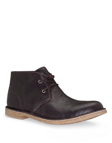 UGG AUSTRALIA Mens Leighton Leather Desert Boots