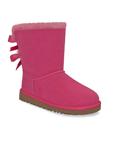 UGG AUSTRALIAToddlers Bailey Bow Sheepskin Boots